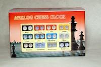 шахматные часы в деревяной коробке