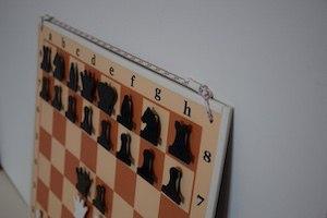 """демонстрационная шахматная доска """"Российская 62 х 62 см""""цельная"""