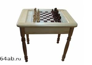 стол шахматный резной ЛЮКС