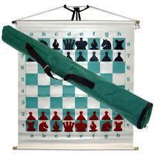 """демонстрационная магнитная шахматная доска """"Тубус"""" Китай"""