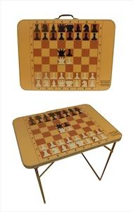 Шахматный складной стол-трансформер с магнитными фигурами