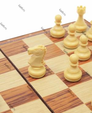 Магнитные шахматы пластмассовые «под дерево» Дорожные (код: 2720L)