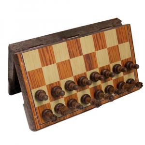 Магнитные шахматы пластмассовые «под дерево» Средние (код: 3020L)