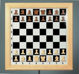 демонстрационная шахматная доска Деревянная