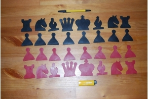 шахматные фигуры для демонстрационной доски 70х70 см пластмассовые