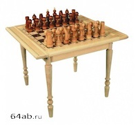 стол шахматный РЕЗНОЙ