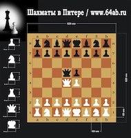 Доска шахматная демонстрационная 70х70 см